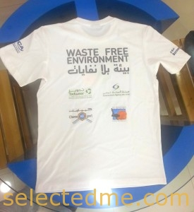 T-shirts back side with screen printing multi color in Dubai. Give away gifts