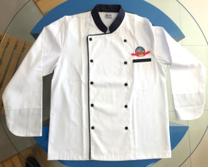Custom Chef Coats, Chef Jackets with logo embroidery in Dubai UAE.
